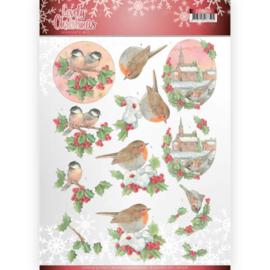 3D Knipvel - Jeanine's Art - Lovely Christmas - Lovely Birds CD11378