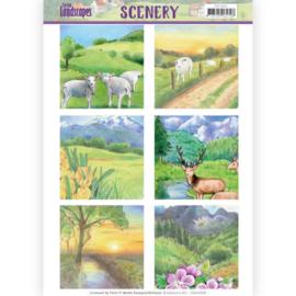 Die Cut Topper - Scenery Jeanines Art - Spring Landscapes 2 CDS10009