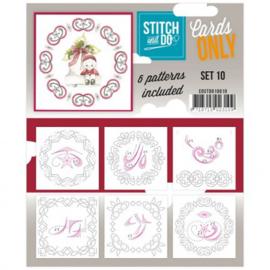 Stitch & Do - Cards Only - 4k - Set 10 COSTDO10010