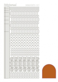 Hobby dots sticker Mirror Copper 017 STDM17B