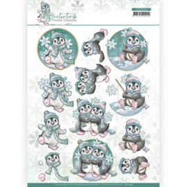 3D cutting sheet - Yvonne Creations - Winter Time - Penguin CD11574