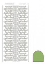 Hobby dots sticker Hartelijk Gefeliciteerd mirror Lime STDMHG0C
