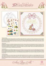 3d Knipvel + borduren Ann Paper Art - A819 Baby Frame