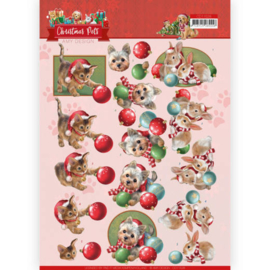 3D Cutting Sheet - Amy Design - Christmas Pets - Christmas balls CD11528