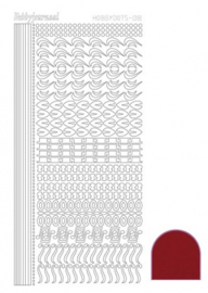 Hobby dots sticker Mirror Red 018 STDM184