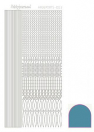 Hobbydots sticker Mirror Turquoise 003 STDM03D