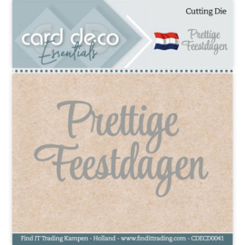 Card Deco Essentials - Cutting Dies - Prettige Feestdagen  CDECD0041