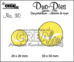 Crealies Duo Dies no. 30 tennisballen 20x20mm-30x30mm / CLDD30 115634/0730