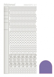 Hobby dots sticker Mirror Violet 017 STDM176