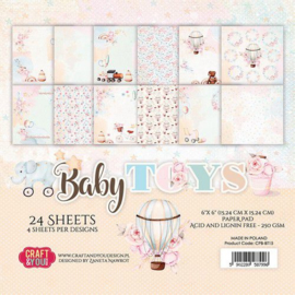 Craft&You Baby Toys Small Paper Pad 6x6 36 vel CPB-BT15 117020/3315