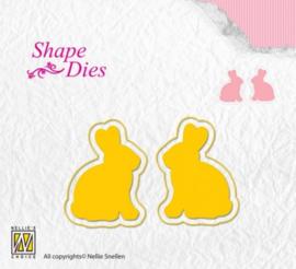Nellies Choice Shape Die - konijnen SD122
