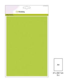 1 PK (1 PK) Papiervel-CV appelgroen 5 ST A4 90GR 001345/0044