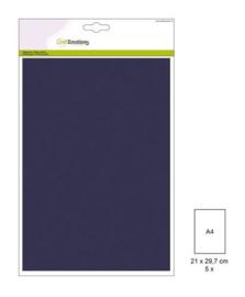 1 PK (1 PK) Papiervel-CV marineblauw 5 ST A4 90GR 001345/0054