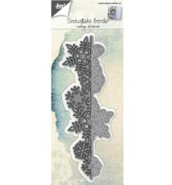 Joy 3D stencil Rand sneeuwvlokken 6002/0690