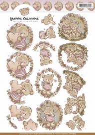 3D Knipvel - Yvonne Creations - Valentijnsbeertjes CD10823