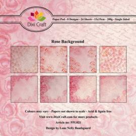 Dixi PaperPack 15x15 cm rose background PPL021