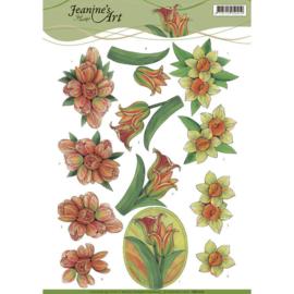 3D knipvel Jeanine's Art - Yellow Spring Flowers CD11112