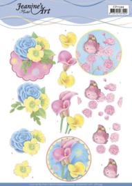 3D knipvel - Jeanine's Art - Flowers  CD11394