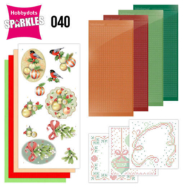 Sparkles Set 40  - Jeanine's Art - Christmas Flowers - Mistletoe SPDO40