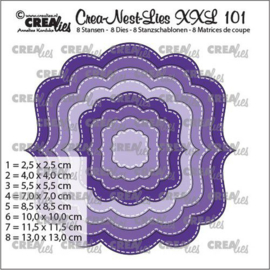 Crealies Crea-Nest-Lies XXL Fantasie vorm B CLXXL101 max. 13 x 13 cm