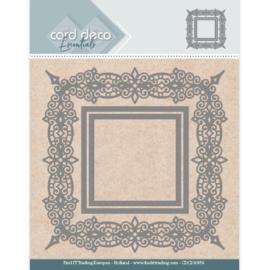 Card Deco Essentials Aperture Dies - Swirls Square CDCD10056