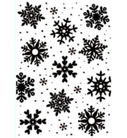 Embossing Folder Christmas Backgrounds: Snowflakes HSFC009