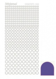 Hobbydots sticker Mirror Purple 008 STDM089