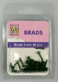 40st Floral Brads 3 mm FLP-BR-006 Christmas green