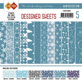 Card Deco - Designer Sheets - Winter Edition turquoise CDDSTQ005