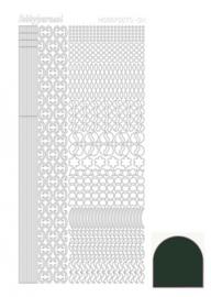 Hobbydots sticker - Mirror Christmas Green 011 STDM11j