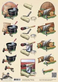 3D Knipvel - Amy Design - Its a Mans World - Klussen CD10487