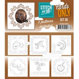 Stitch & Do - Cards only - 4k - Set 30 COSTDO10030