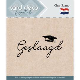 Card Deco Essentials - Clear Stamps - Geslaagd CDECS036