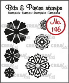 Crealies Clearstamp Bits & Pieces 6x Mini Bloemen 24 CLBP146 max. 20 mm
