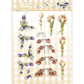 3D Knipvel - Precious Marieke - Early Spring - Early Tulips CD11025