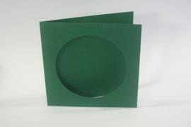 CraftEmotions linnen kaart passepartout rond 1st groen 13,5x13,5cm 250gr - 001238/1020