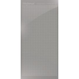 Hobbydots sticker Sparkles 01 Mirror Silver HSPM018