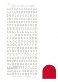 Clippunch Alphabet sticker red