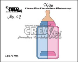 Crealies X-tra no. 42 Zuigfles (middel) CLX-tra42 34x75mm