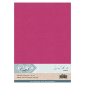 Linen Cardstock - A4 - Magenta LKK-A467
