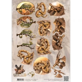 3D Knipvel - Amy Design - Wild Animals - Reptiles CD10869