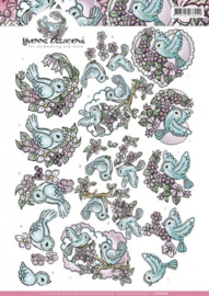 3D Knipvel - Yvonne Creations - Little birds CD10896