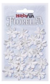 FLORELLA-Blüten weiss, 2cm 3866001
