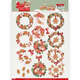 3D Knipvel - Yvonne Creations - Sweet Christmas - Sweet Wreaths CD11372