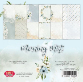 Craft&You Morning Mist Small Paper Pad 6x6 36 vel CPB-MM15 (07-21)