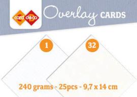 Linen Cardstock - Overlay Cards  LKK-OKA32 gebroken wit