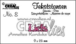 Crealies tekststans - Liefs (NL) CLTS08 / 9x23 mm 115634/3108