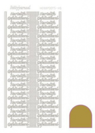 Hobby dots sticker Hartelijk Gefeliciteerd mirror Gold STDMHG07