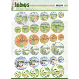 Scenery mini knipvellen - Jeanine's Art - Landscapes - cirkel JAMIN10002