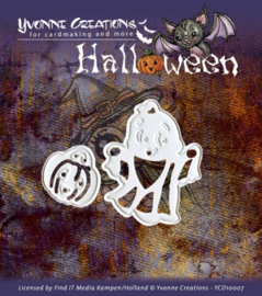 Yvonne Creations mal YCD10007 Halloween Little Ghost